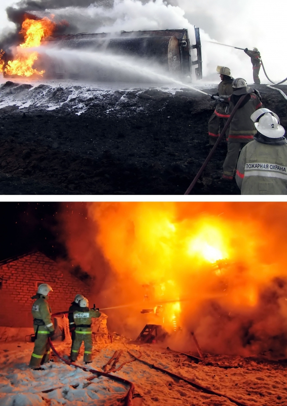 Набор пямятных открыток в честь 370-ой годовщины образования пожарной охраны России: Моя профессия - ПОЖАРНЫЙ