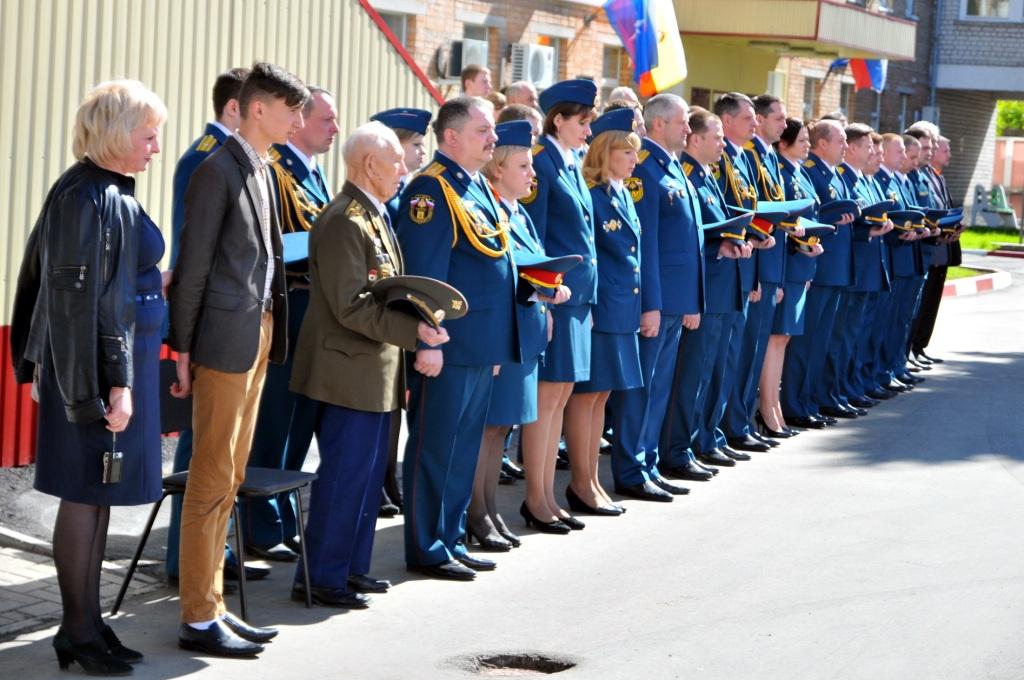 Торжественное построение в Главном управлении МЧС России по Рязанской области в честь Дня Победы