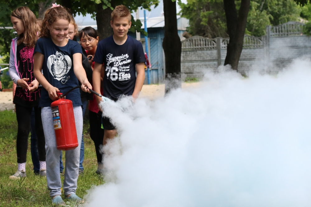 Урок безопасности в детском оздоровительном лагере «Исток»