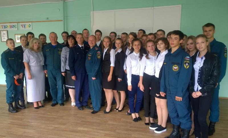 Учащиеся профильного класса «Пожарные кадеты» приняли присягу