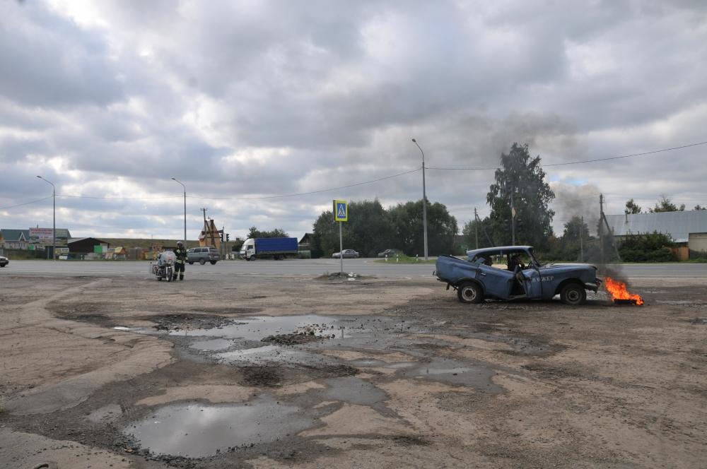 В Рязанской области отработали действия по ликвидации условного ДТП на федеральной трассе