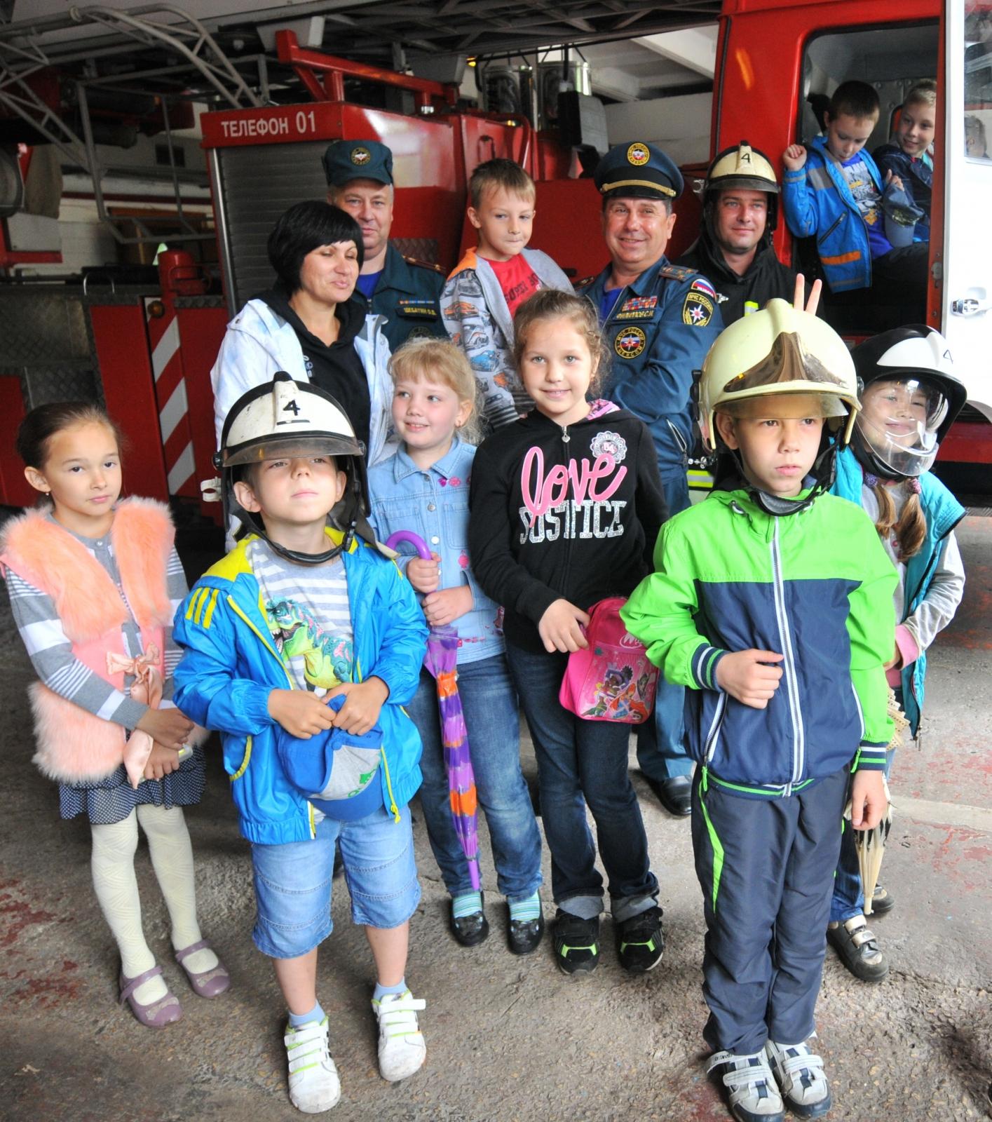Урок мужества в пожарно-спасательной части № 4