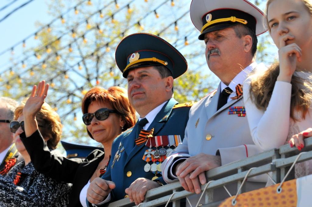 Участие в параде в честь Дня Победы