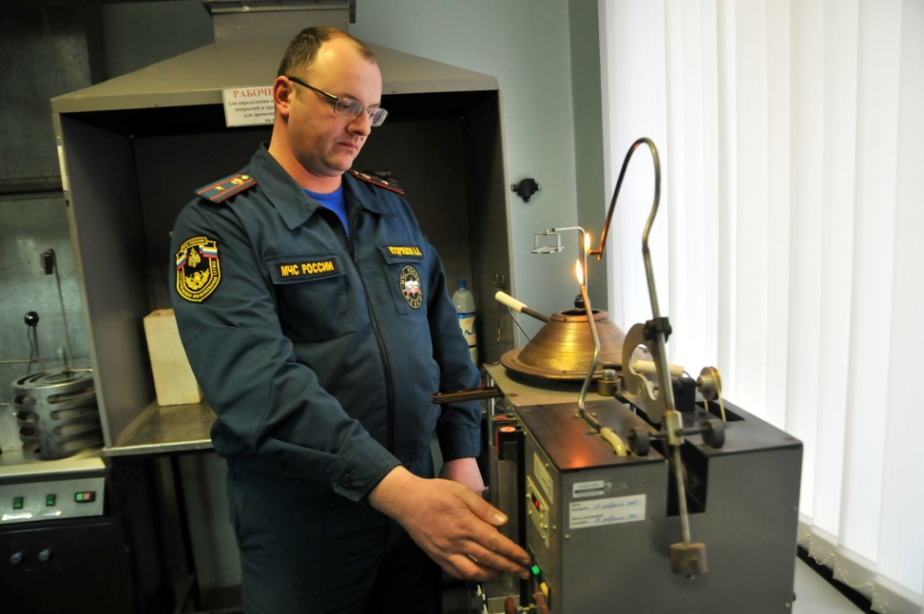 Пресс-тур в испытательной пожарной лаборатории в честь 50-летия учреждения