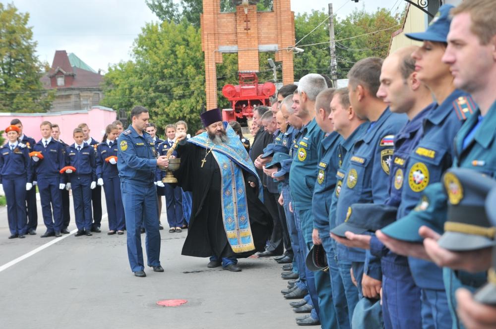 В Главном управлении МЧС России по Рязанской области прошел молебен в честь памяти Иконы Божьей Матери «Неопалимая Купина»