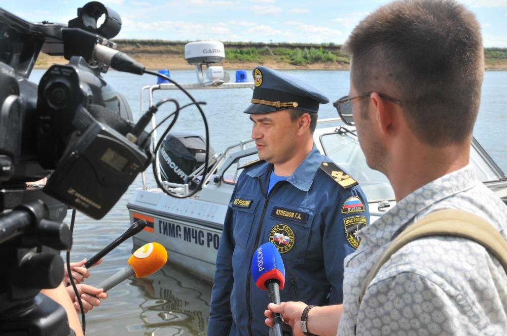 Патрулирование водных объектов инспекторами ГИМС совместно со СМИ