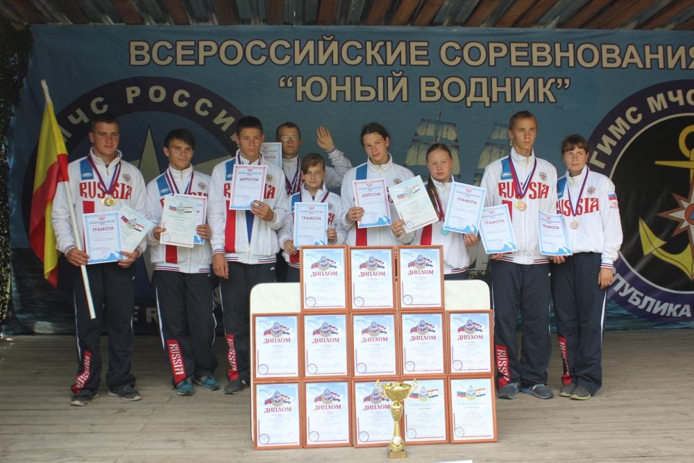 Команда Рязанской области - победитель в VII межрегиональных соревнований «Юный спасатель (водник)» среди команд ЦФО.