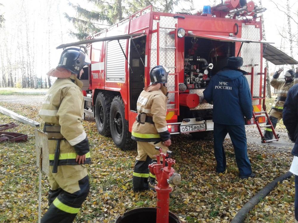 Пожарно-тактическое занятие в Старожиловской центральной районной больнице