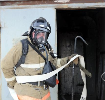 На промышленном предприятии в Рязани состоялись пожарно-тактические учения