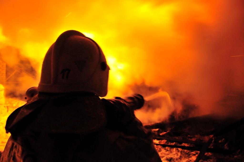 Пожар в Рязани на улице Голенчинская