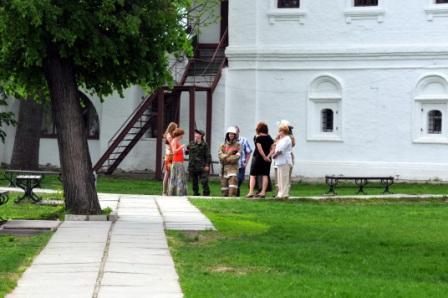 Пожарно-тактические ученья в Рязанском Кремле