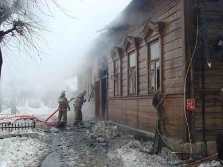 Пожар на ул. Новослободской