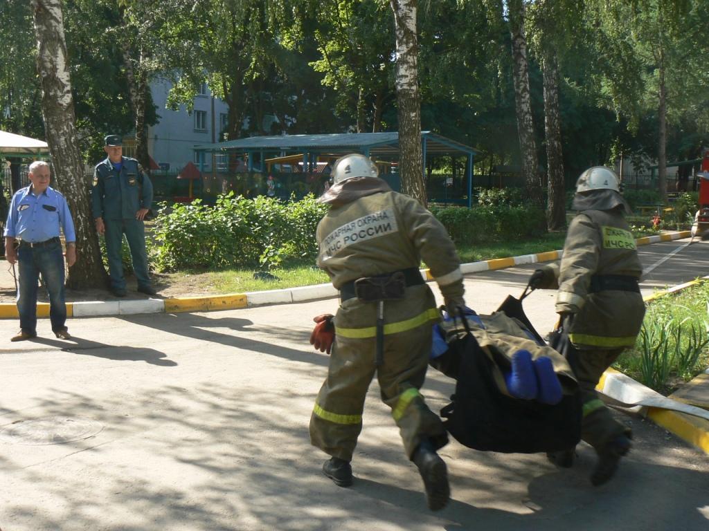 Тренировка по эвакуации в детском саду №115 г. Рязани