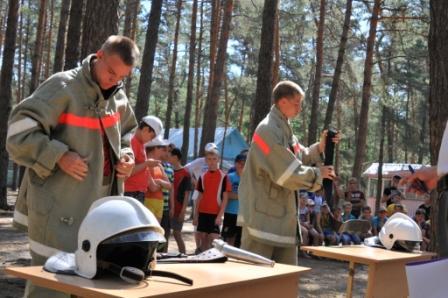"""Противопожарная эстафета в лагере """"Сказка"""""""