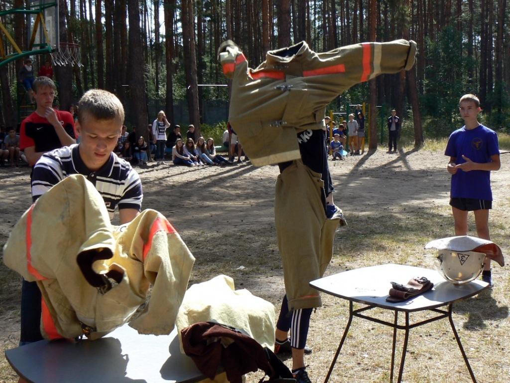 Соревнования по пожарно-прикладному спорту в детском оздоровительно-образовательном центре «Сказка»