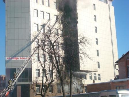 Пожар на улице Татарской в Рязани