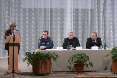 Заседания комиссии по предупреждению и ликвидации чрезвычайных ситуаций с проведением практических занятий в р.п. Кадом.