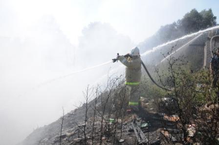 Загорание мусора в Канищево