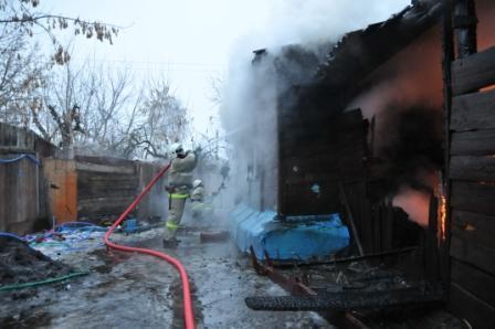 Пожар в жилом доме на Московском шоссе