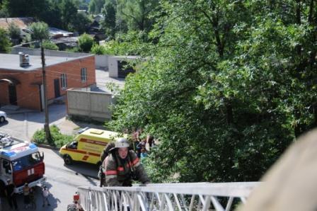 Пожар на улице Разина