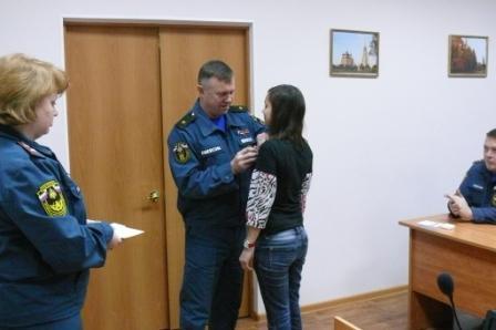 Награждение участников ликвидации природных пожаров в 2010 году