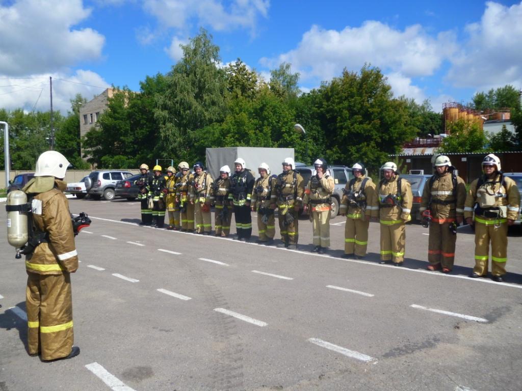 Занятие начальствующего состава службы пожаротушения