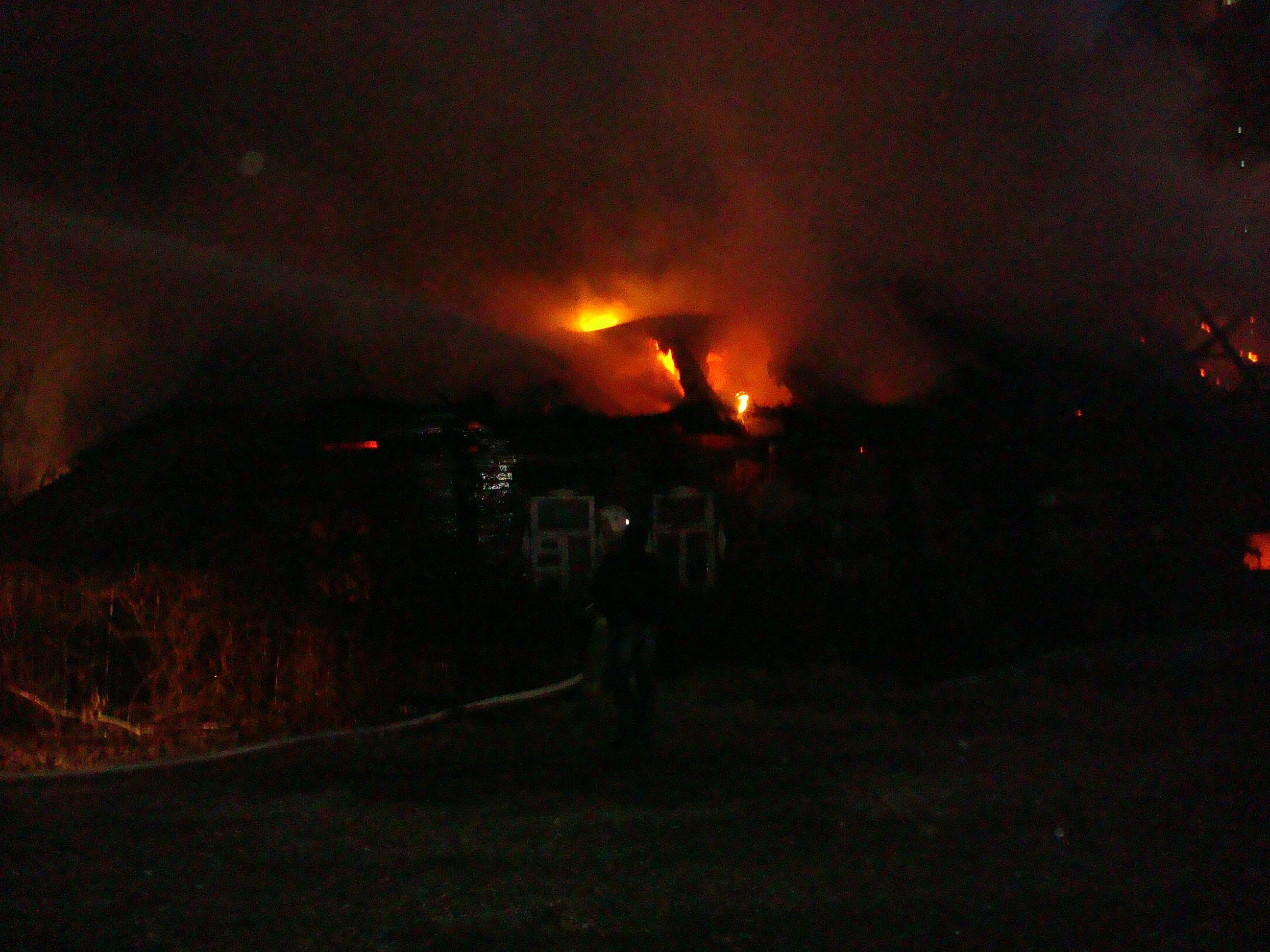 Тушение пожара на улице Затинная города Рязани