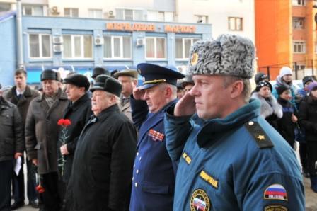 Открытие памятной доски в честь Героя СССР, ветерана пожарной охраны Александра Семеновича Полина