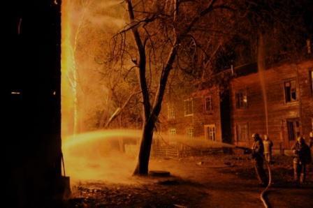 Пожар на улице Рабочих