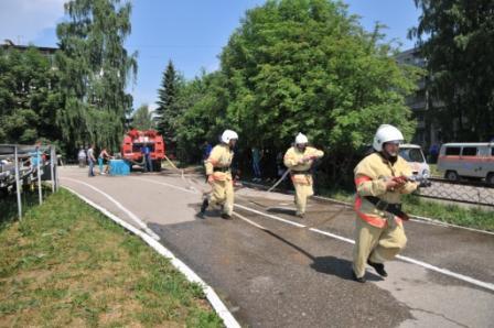Соревнования подразделений добровольной пожарной охраны Рязанской области