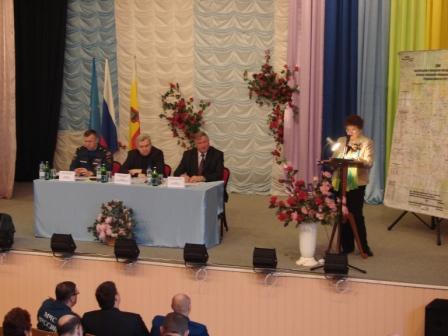 Выездное заседание комиссии по предупреждению и ликвидации ЧС и обеспечению пожарной безопасности в поселке Крутоярский Касимовского района