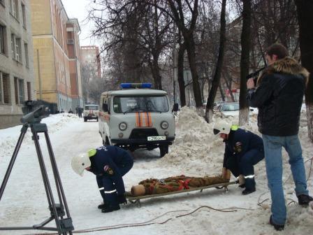 Тренировочные учения в Рязанском государственном радиоуниверситете