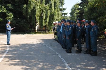 Соревнование пожарных ГПС за звание лучшей команды Главного управления МЧС России по Рязанской области