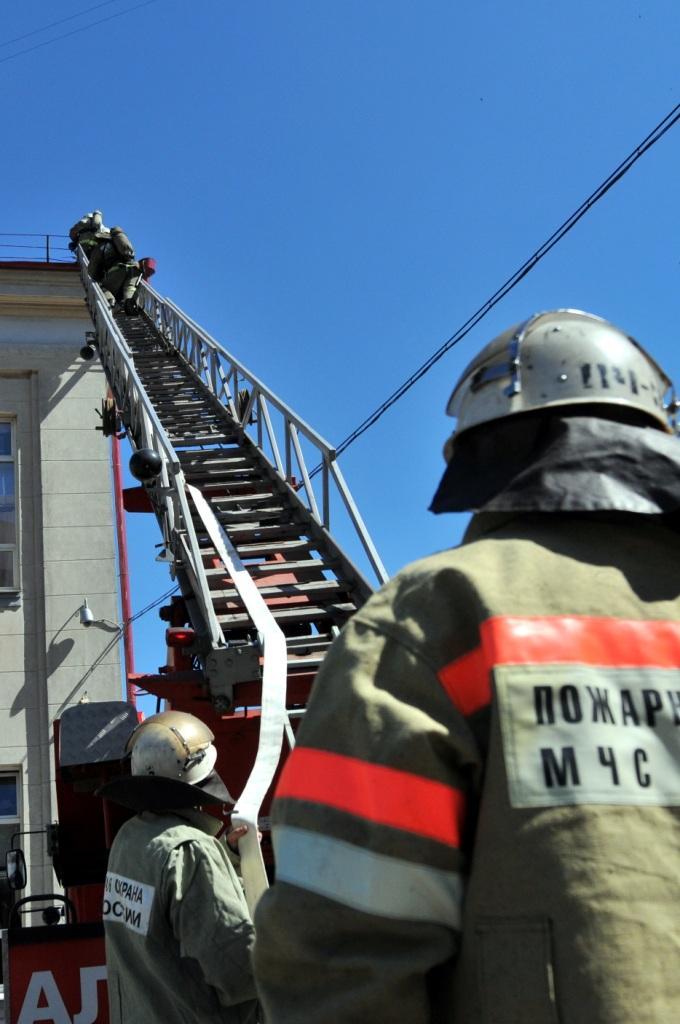 Пожарно-тактическое учение на железнодорожном вокзале «Рязань-1»