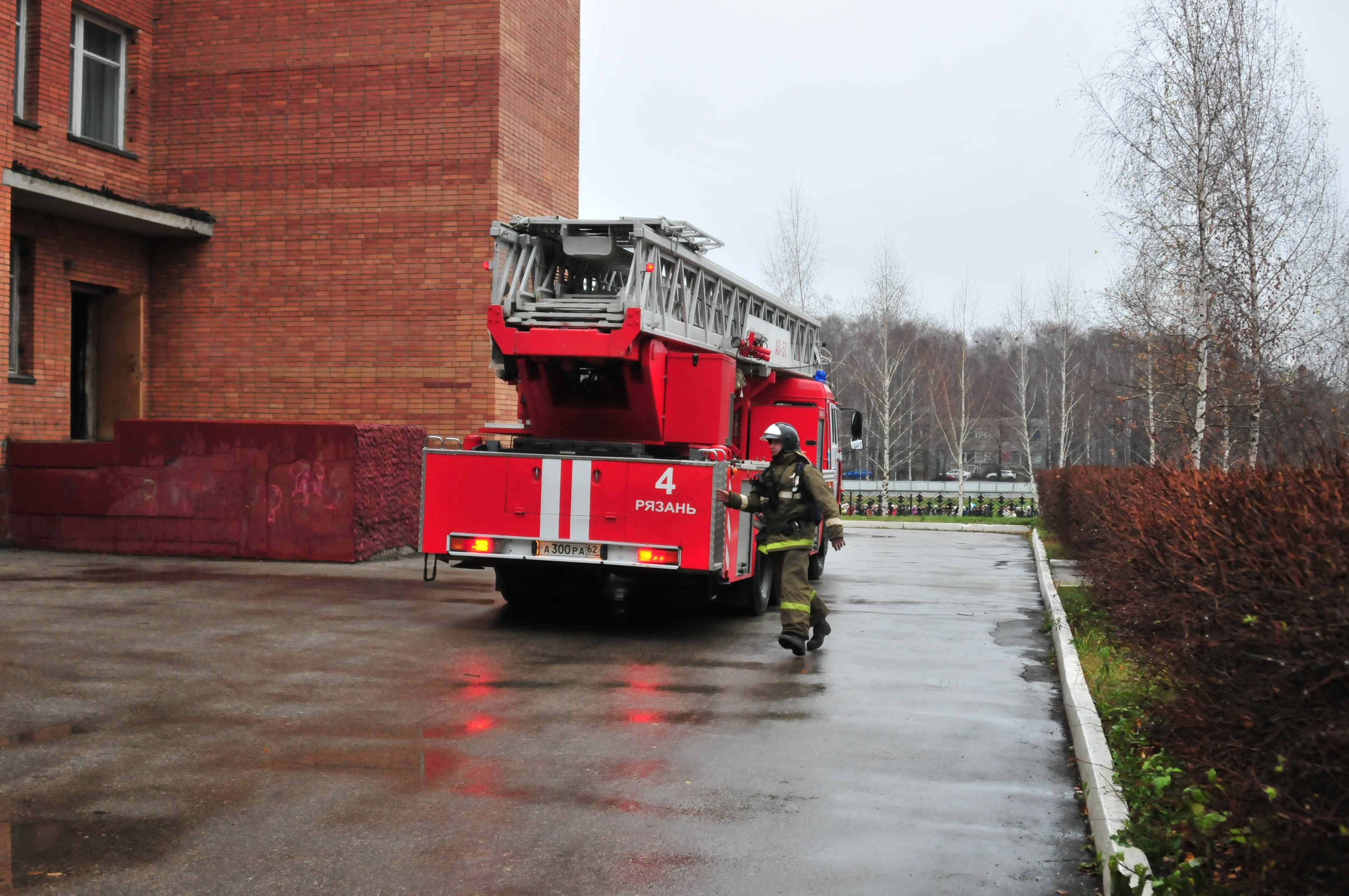 Тренировка по эвакуации учащихся Рязанского агротехнологического университета