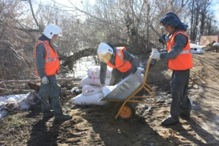 Работа по укреплению береговой зоны в р.п. Кадом