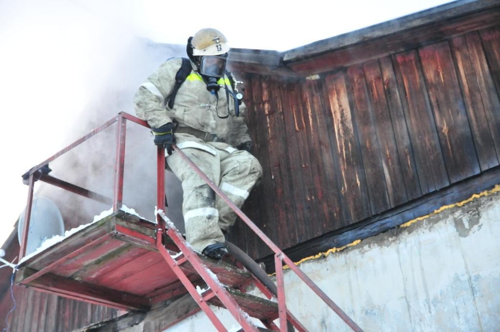 Тушение пожара в жилом доме в Дягилево