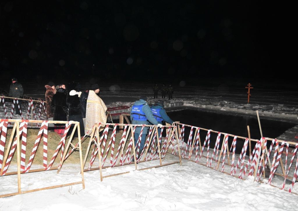 Обеспечение безопасности во время Крещенских купаний