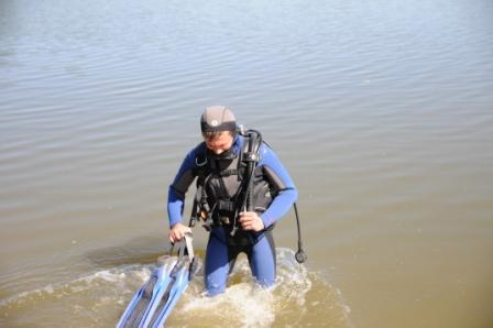 Проверка пляжа водолазами