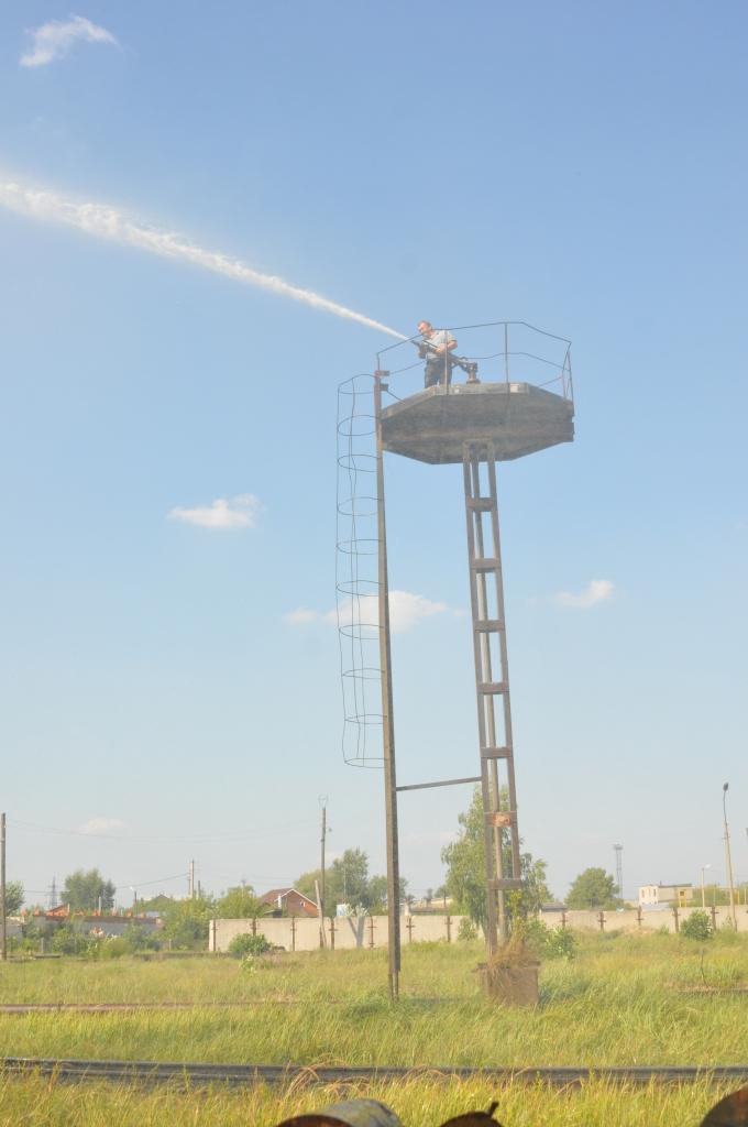 Тушение загорания на шпалопропиточном заводе