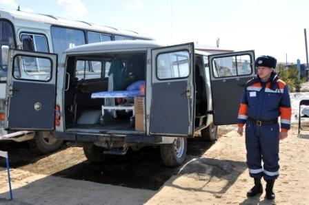 Прибытие в Рязанскую область 996 спасательного центра МЧС России