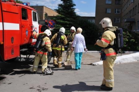 Учения в городской клинической больнице №11