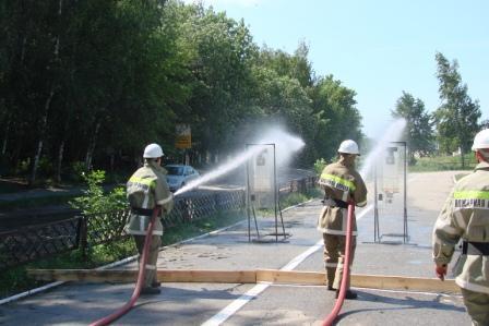 Соревнования среди добровольных пожарных