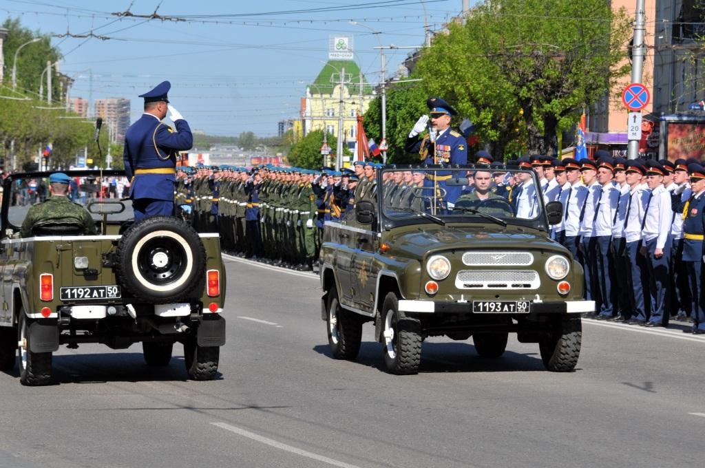 Участие сотрудников ГУ МЧС России по Рязанской области в параде в честь Дня победы