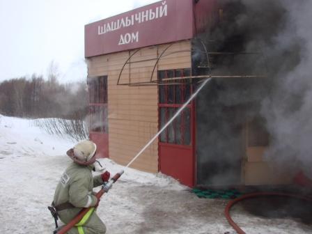 """Ликвидация пожара в кафе """"Шашлычный дом"""""""