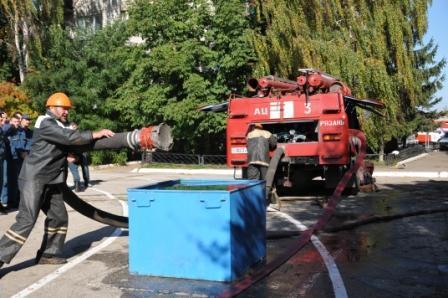 Cоревнования среди добровольных пожарных дружин