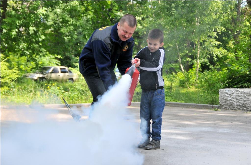 Противопожарное занятие с детьми