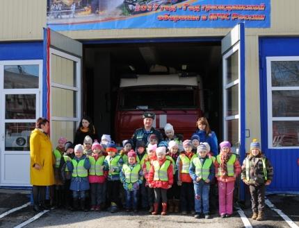 Воспитанники детского сада № 66 побывали в гостях у огнеборцев и на экскурсии о пожарном деле