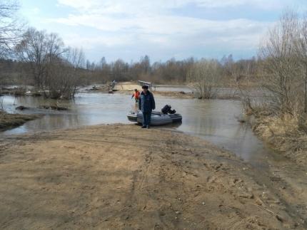 Паводковая обстановка на территории Смоленской области под контролем специалистов (12.04.2018)