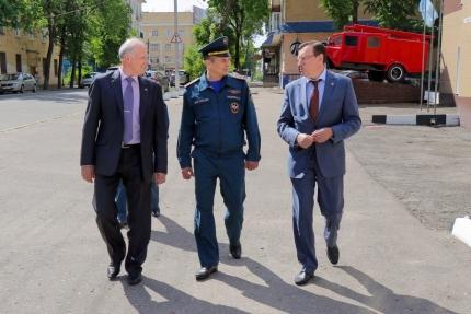 Рабочий визит председателя Центрального совета ВДПО в Главное управление МЧС России по Смоленской области